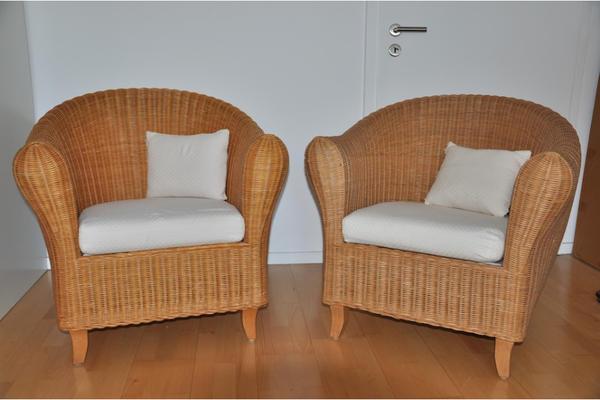 2x rattan polstersessel von ikea in mannheim polster. Black Bedroom Furniture Sets. Home Design Ideas