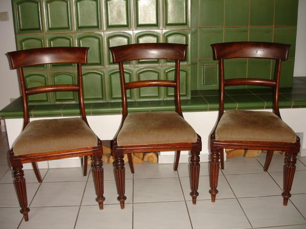 3 englische st hle alt antik aus der zeit gleich neu gepolstert in gaggenau. Black Bedroom Furniture Sets. Home Design Ideas