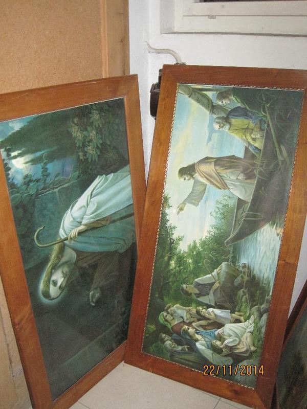 3 gro e heiligenbilder in hard kunst gem lde plastik kaufen und verkaufen ber private. Black Bedroom Furniture Sets. Home Design Ideas