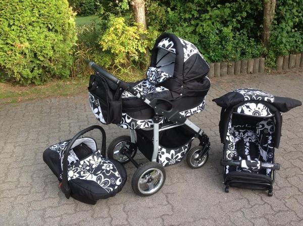 3 in 1 kombikinderwagen bergsteiger capri schwarz wei in hamburg kinderwagen kaufen und. Black Bedroom Furniture Sets. Home Design Ideas