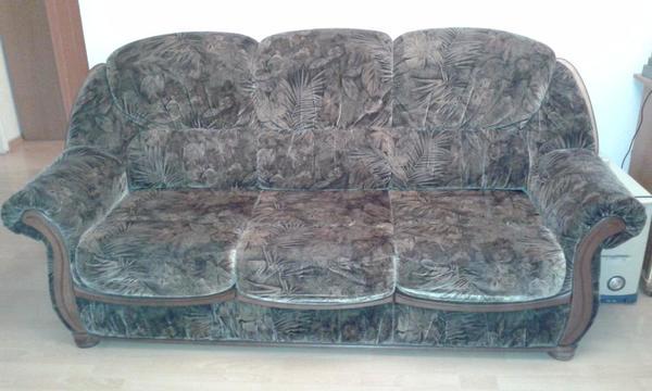 3 sitzer couch mit schlaffunktion in m nchen polster. Black Bedroom Furniture Sets. Home Design Ideas