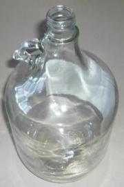 5l Glas Flasche