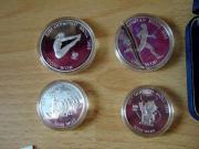 8 Silbermünzen Süd -