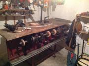 Alte Schuhmacher Maschine