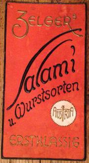 Alte Werbetafel