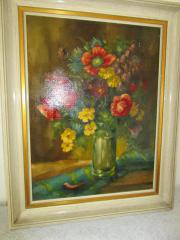 altes Blumenbild auf