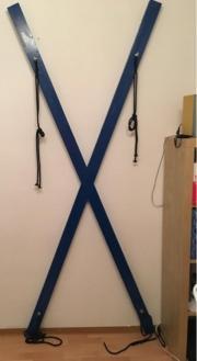 Andreaskreuz XXL blau