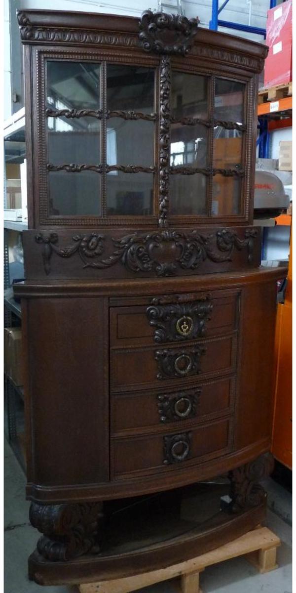 antik eckschrank mit vitrine in wehrheim sonstige m bel. Black Bedroom Furniture Sets. Home Design Ideas