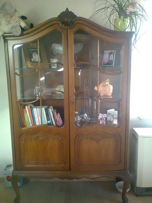 antike glasvitrine in speyer sonstige m bel antiquarisch kaufen und verkaufen ber private. Black Bedroom Furniture Sets. Home Design Ideas