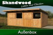 Außenbox, Doppelbox, Pferdestall,