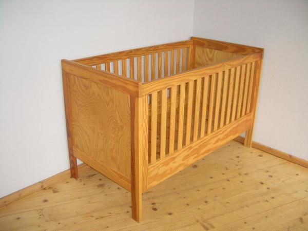 baby bett gitterbett kinderbett baby m bel massivholz. Black Bedroom Furniture Sets. Home Design Ideas