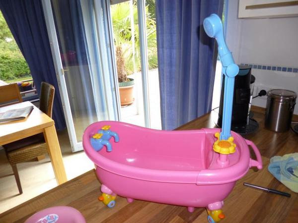 baby born badewanne zapf creation 798867 und t pfchen in. Black Bedroom Furniture Sets. Home Design Ideas
