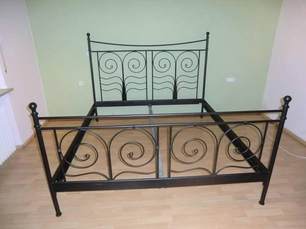 bett schwarz 180x200 metall ikea noresund in bonn betten. Black Bedroom Furniture Sets. Home Design Ideas