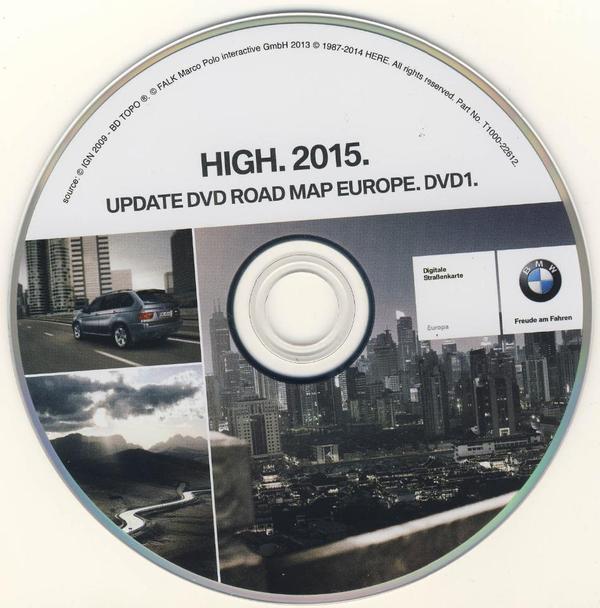 Bmw Z4 Update: BMW High 2015 Navi DVD EUROPA NEU E38 E39 E46 E53 E65 E66