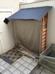 Brennholzregal, Überdacht, Regenschutz