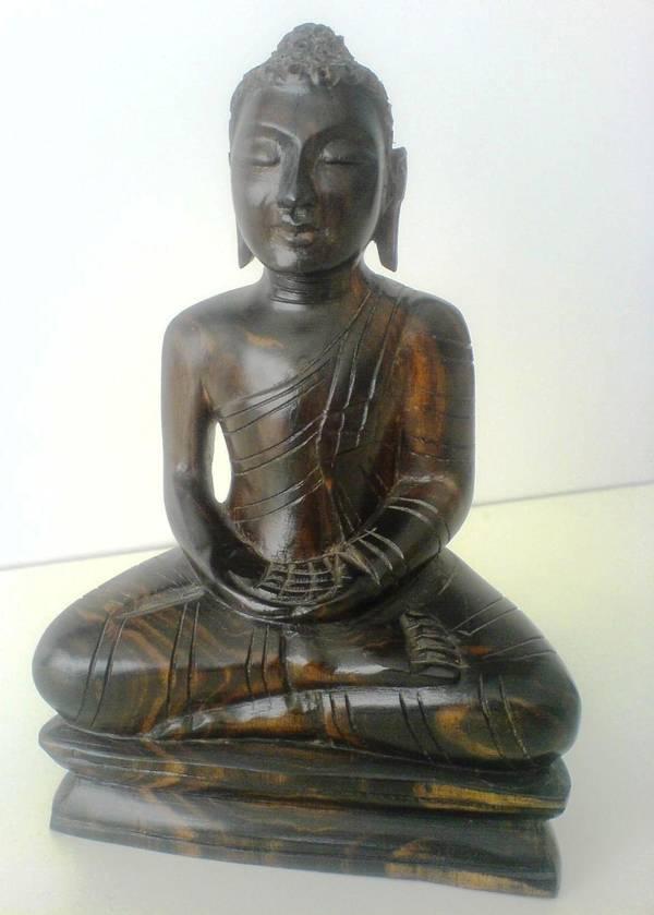 Buddha figur aus ebenholz massiv in frankfurt for Dekoartikel frankfurt