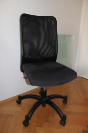 Bürostuhl, schwarz,