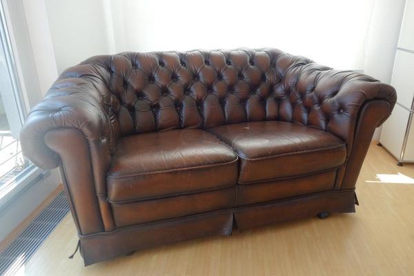 chesterfield ledersofa zweisitzer in karlsruhe designerm bel klassiker kaufen und verkaufen. Black Bedroom Furniture Sets. Home Design Ideas