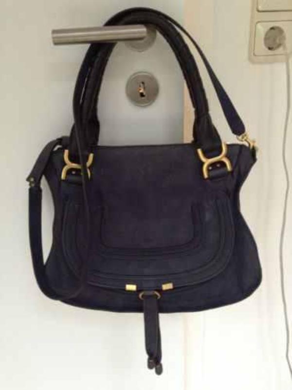 chloe marcie medium tasche ledertasche satchel handbag blau in plaaz taschen koffer. Black Bedroom Furniture Sets. Home Design Ideas