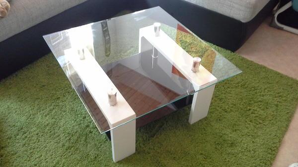 glastisch quadratisch kaufen gebraucht und g nstig. Black Bedroom Furniture Sets. Home Design Ideas