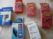 diverse unbenutzte Druckerpatronen
