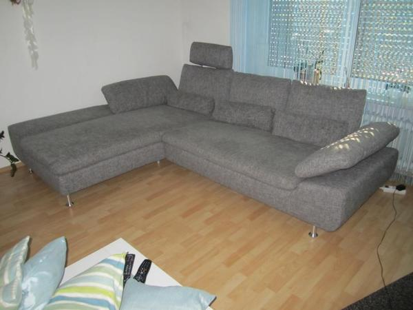 e schillig polstergarnitur couch diva granit sehr guter. Black Bedroom Furniture Sets. Home Design Ideas