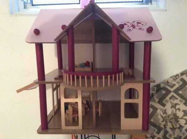 Groses Puppenhaus Aus Holz Von Eichhorn ~ eichhorn puppenhaus puppenhaus aus holz von eichhorn wie neu inkl