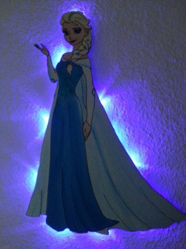 Elsa eisk nigin nachtlicht kinderzimmer lampe - Kinderzimmer eiskonigin ...