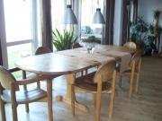 Esstisch mit Einlegeplatten