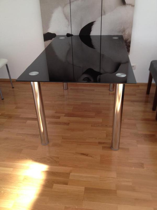 esstisch schwarz glas in feldkirch alles m gliche. Black Bedroom Furniture Sets. Home Design Ideas