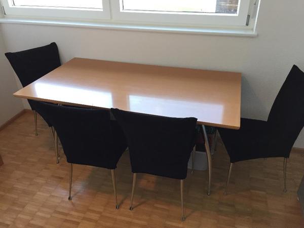 esszimmertisch mit 4 st hlen od nur tisch in doren speisezimmer essecken kaufen und. Black Bedroom Furniture Sets. Home Design Ideas