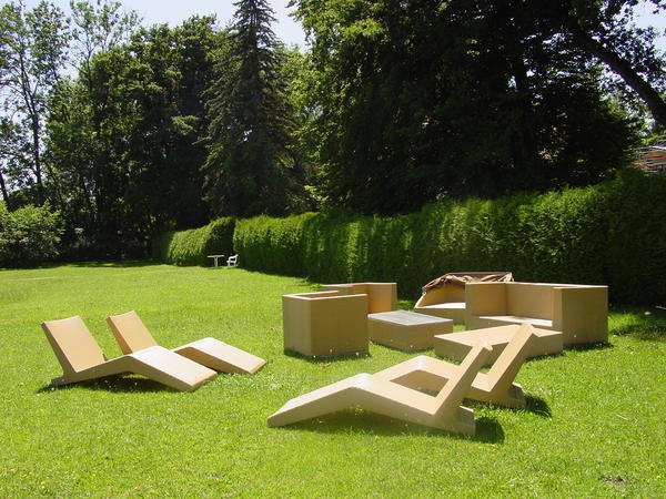 Gartenmobel Set Holz Ausziehbar : exklusive PolyrattanLoungeGarnitur mit Sesseln, Liegen, Sofa