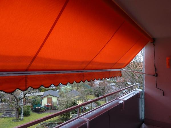 Fallarmmarkise F R Balkon Orange Breite 4 M X 1 5 M In