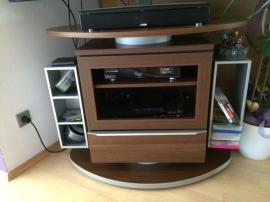 fernseh tv hifi rack board schrank drehbar. Black Bedroom Furniture Sets. Home Design Ideas