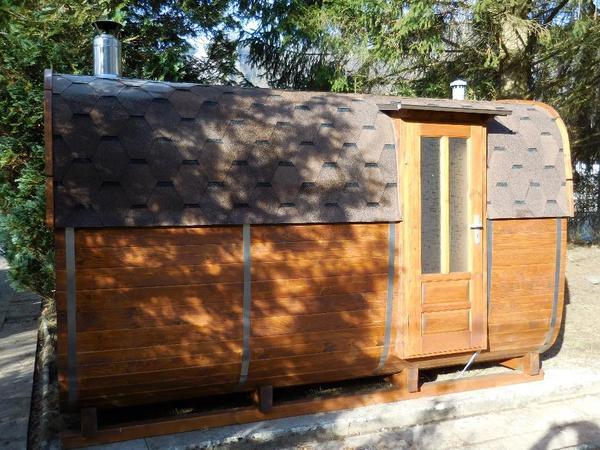 finnische sauna 4 x2 5 m inkl holzherd werkneu in. Black Bedroom Furniture Sets. Home Design Ideas