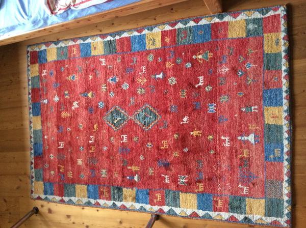 gabbeh teppich handgekn pft ca 1 94 x 1 27 m sehr guter zustand sehr gute qualit t in. Black Bedroom Furniture Sets. Home Design Ideas