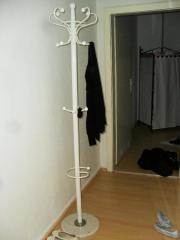 Garderobenständer weiss Holz--