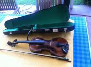 Geige mit Mozartkopf