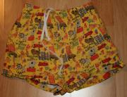 Gelb-bunte Shorts -