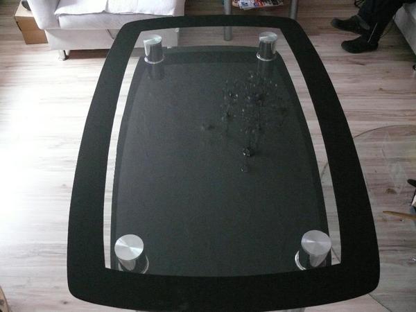 Glastisch schwarz esstisch in boxberg speisezimmer for Glastisch schwarz