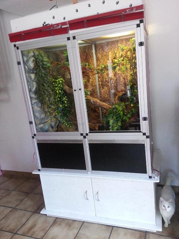 gro terrarium terrarium f r schlangen cham leon etc in. Black Bedroom Furniture Sets. Home Design Ideas
