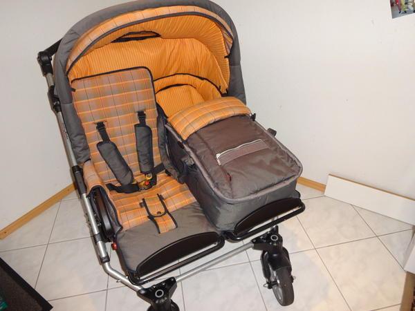 hartan zwillingswagen zx ii karo orange in bischweier. Black Bedroom Furniture Sets. Home Design Ideas
