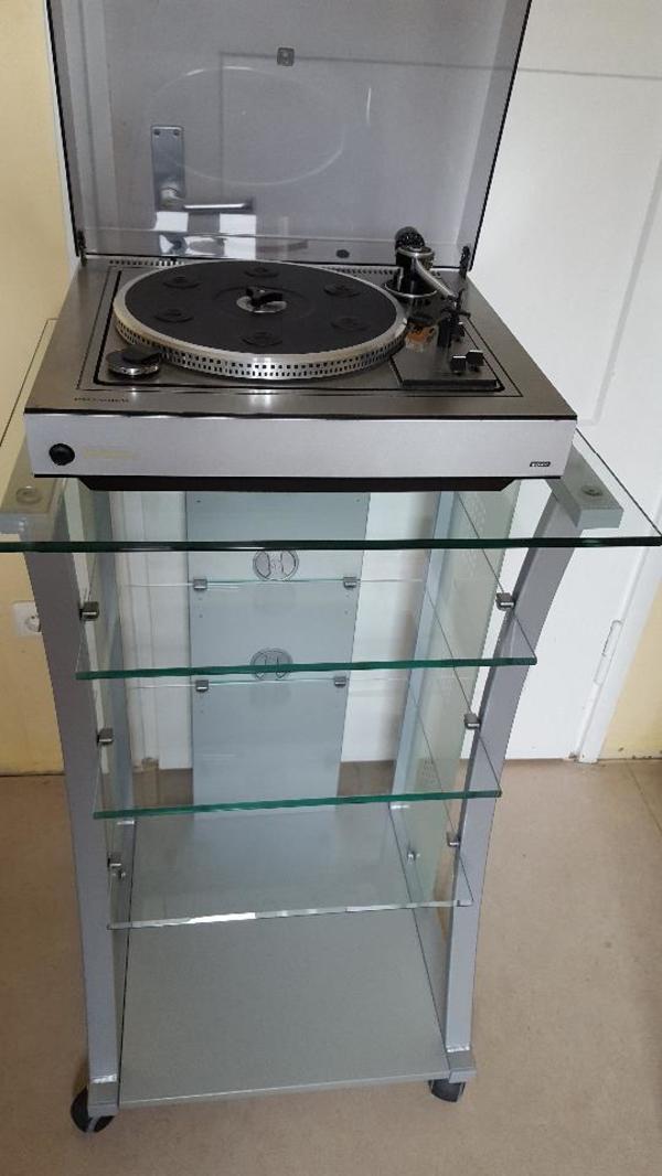 hifi m bel rack regal tisch alu glas in m nchen phono tv videom bel kaufen und verkaufen. Black Bedroom Furniture Sets. Home Design Ideas
