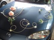 Hochzeitsdeko für Auto
