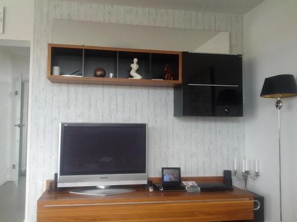 wohnwand nussbaum neu und gebraucht kaufen bei. Black Bedroom Furniture Sets. Home Design Ideas