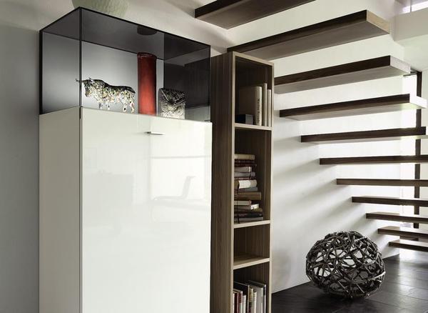 h lsta vitrine wei hochglanz mit beleuchtung. Black Bedroom Furniture Sets. Home Design Ideas