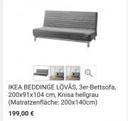 ikea schlafsofa haushalt m bel gebraucht und neu. Black Bedroom Furniture Sets. Home Design Ideas