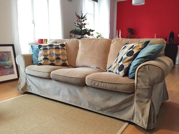 ikea ektorp 3er sofa mit bezug 39 vellinge beige 39 in pforzheim ikea m bel kaufen und verkaufen. Black Bedroom Furniture Sets. Home Design Ideas