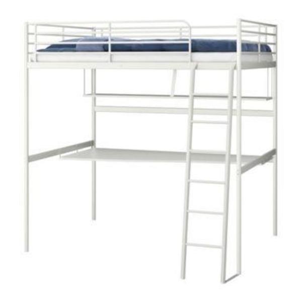 Armoire Penderie Ikea Kullen ~ Ikea Hochbett Tromsö in weiß mit Schreibtisch in Hollfeld  Betten