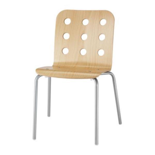 ikea jules stuhl 4x birke silberfarbene beine stapelbar selbstabholung m nchen forstenried. Black Bedroom Furniture Sets. Home Design Ideas